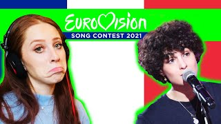 I REACTED TO 🇫🇷 FRANCE'S SONG FOR EUROVISION 2021 // BARBARA PRAVI // VOILA 🇫🇷