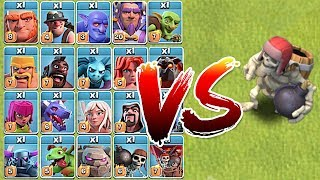 GIANT SKELETON Vs. ALL TROOPS!! | Clash of clans | NEW UPDATE!!