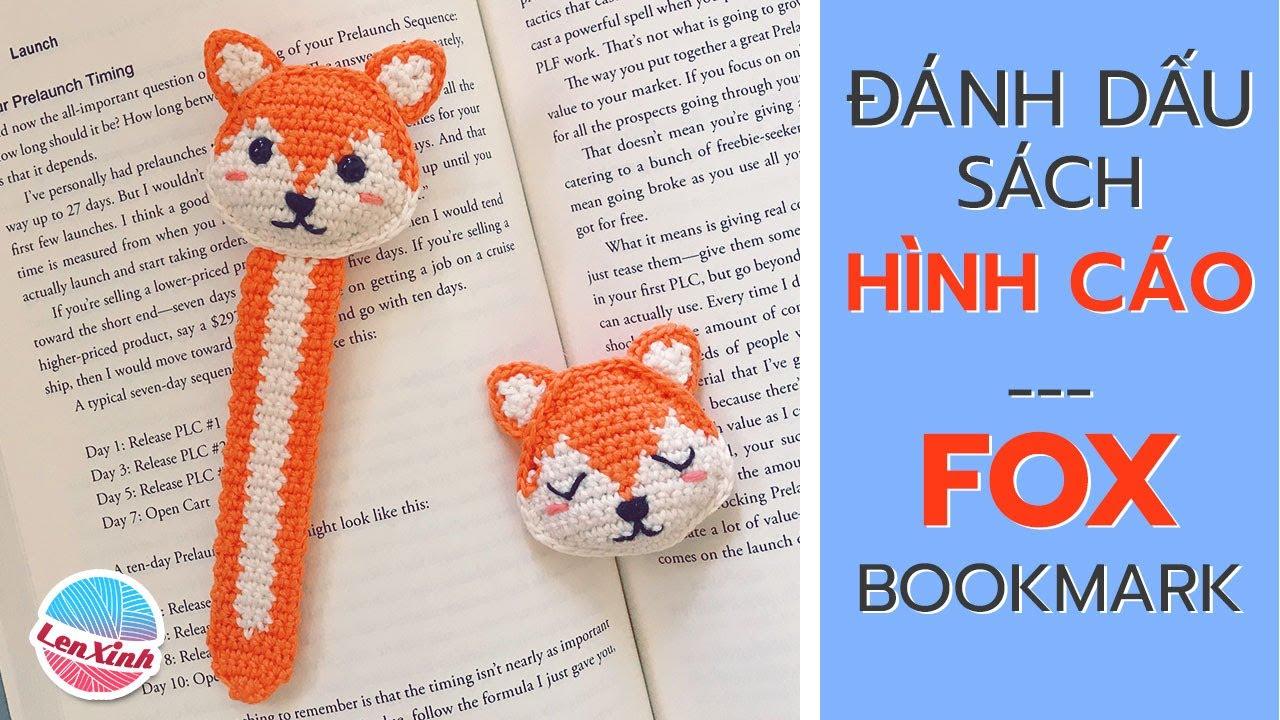 Cách Làm Đánh Dấu Sách Handmade Bằng Len Độc Đáo (ENG SUB) Crochet A Fox Bookmark DIY Tutorial