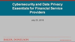 Cybersecurity and Data Privacy Essentials for Financial Service Providers