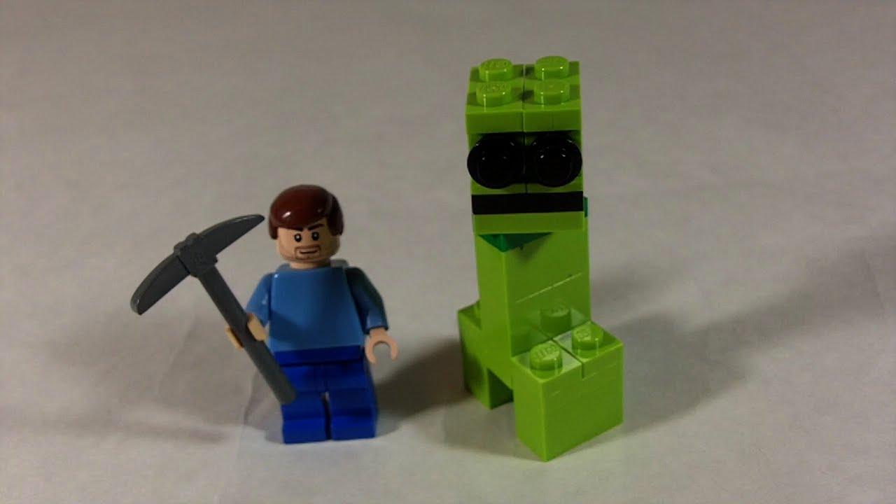 How to build lego minecraft creeper steve youtube - Minecraft creeper and steve ...