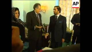 WRAP: Brahimi meets Afghan FM Abdullah and Def Min Fahim.