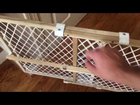 Diy Self Closing Spring Loaded Pet Baby Gate Youtube