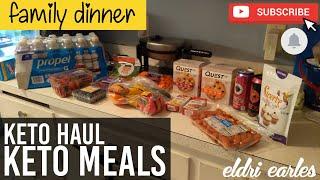 KETOber Day 12 // Keto Mini Haul & Meals // Family Dinner