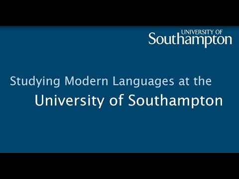 Modern Languages at the University of Southampton