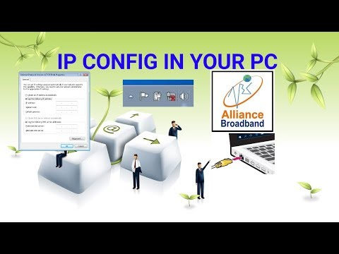 IP CONFIG IN PC FOR BROADBAND CONNECTION (ALLIANCE BROADBAND)