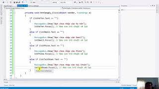 [Khóa Học Lập Trình C#.NET] - Xây Dựng Ứng Dụng Tạo Form Đăng Ký Tài Khoản Phần 1 (Video 22/49)