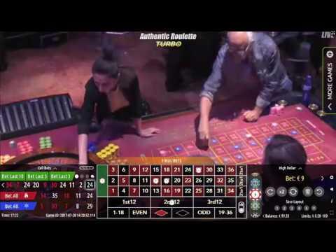 Authentic Turbo Roulette en direct du Casino International Batumi