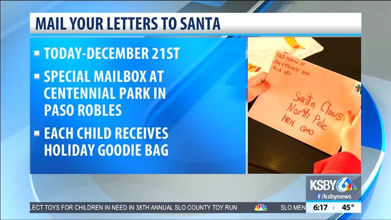 mail letters to santa at a special mailbox in paso robles