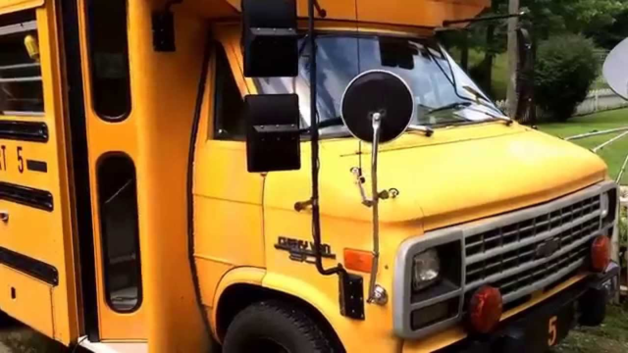 School Short Bus RV conversion of Chevy Diesel Van Step 1