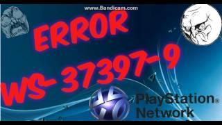 PS4 Ошибка и решение WS 37397-9 БАН psn