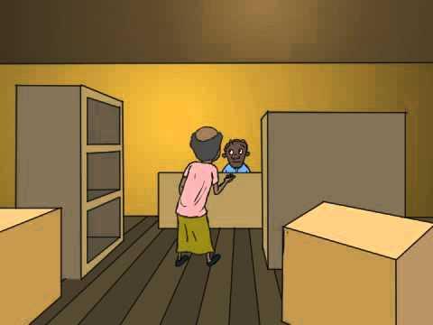 Somali cartoon - Xaawo odeygeed oo shaati iibsanaaya - somali cartoon