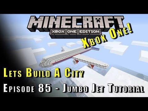 Minecraft :: Lets Build A City :: Jumbo Jet Plane Tutorial :: E85