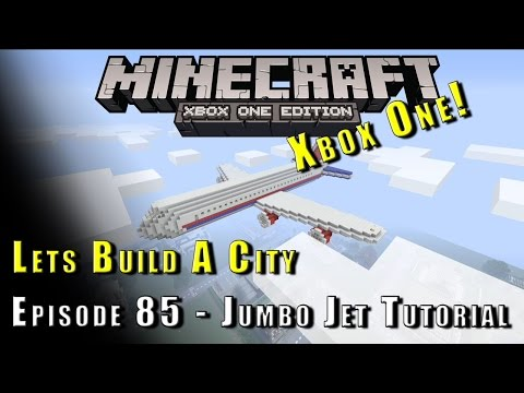 Minecraft :: Lets Build A City :: Jumbo Jet Plane Tutorial :: E85