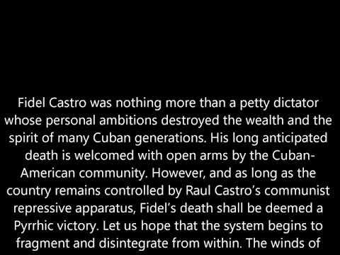 FIDEL CASTRO'S DEATH IN  2016 ( DEATH OF A TYRANT)
