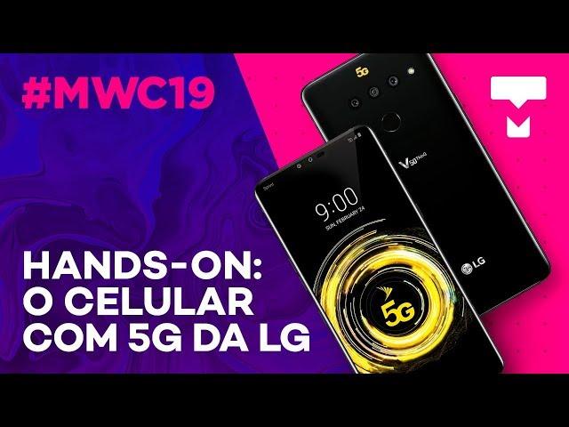 V50 ThinQ, o celular 5G da LG - MWC 2019 - TecMundo