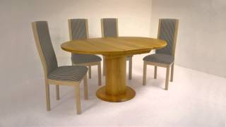 Contemporary Flip Leaf Dining Table