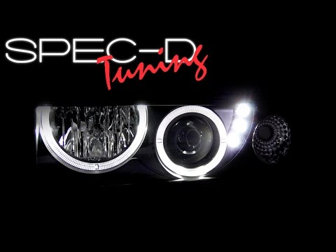 SPECDTUNING DEMO VIDEO: 1998-2004 CHEVY S10 DUAL HALO LED PROJECTOR HEADLIGHTS thumbnail