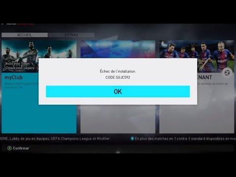 Fix Error Live Update Pes2018 SGJC592 & SGJC486 ExCLu الحل النهائي