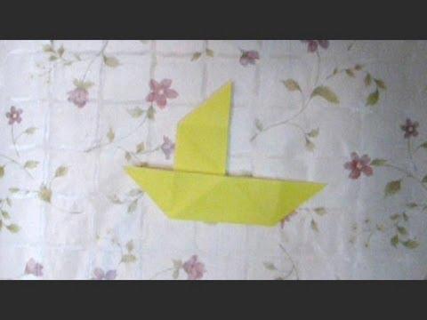 """脱??達??巽卒? 達??達?他達??竪?孫達?速脱??達??脱?孫 How to make """"origami trick boat ..."""
