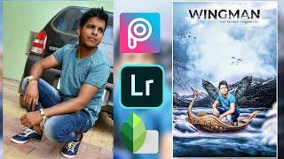 wingman photo editing in picsart Dragon manipulation photo editing water boat photo editing ritesh