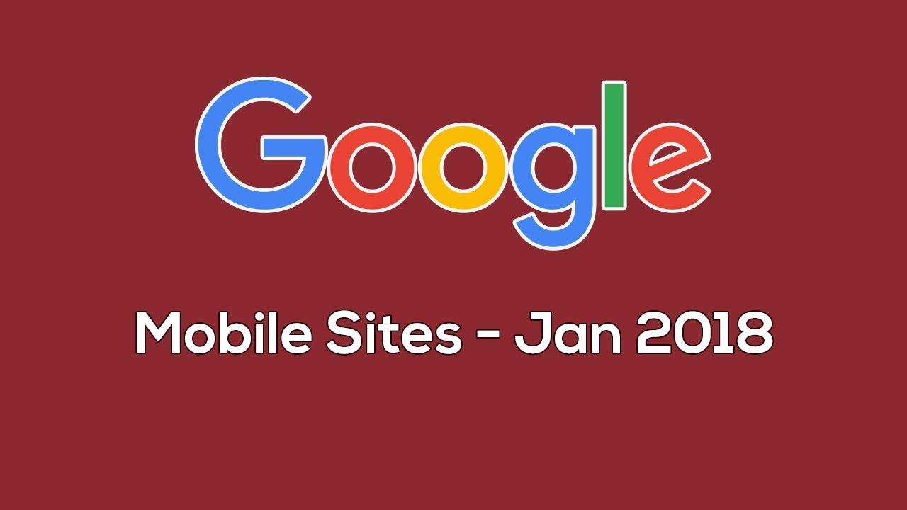 Google Mobile Sites Certification Exam Jan 2018 Youtube