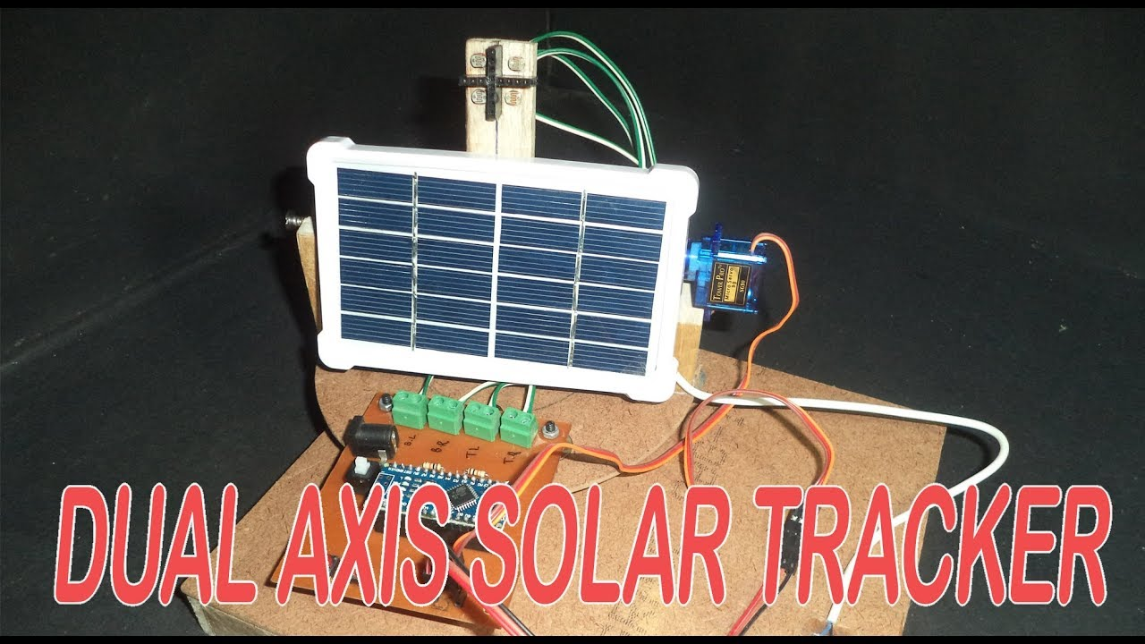 Dual Axis Solar Tracker Using Arduino