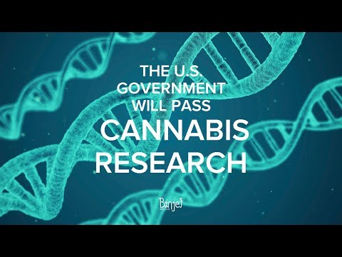 THE U.S. GOVERNMENT WILL PASS CANNABIS RESEARCH