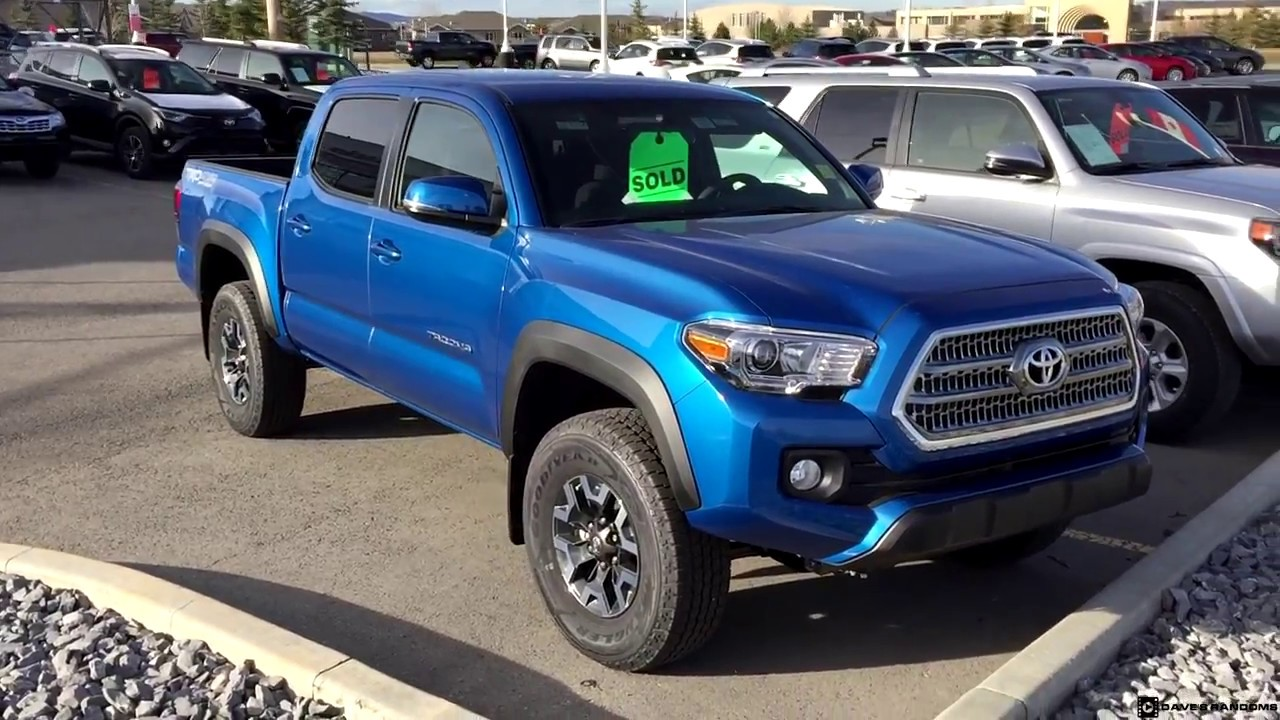 2017 Toyota Tacoma Double Cab Trd Off Road In Blazing Blue