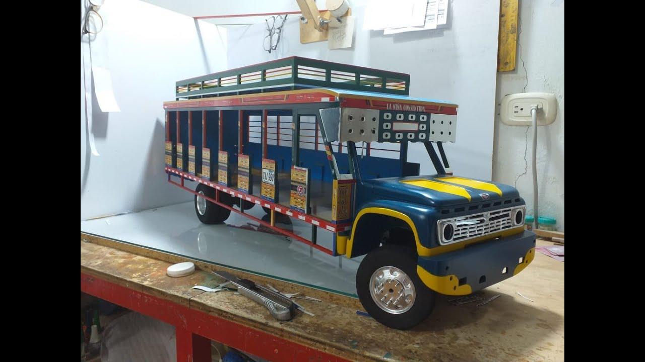 Bus escalera (chiva) procesó de fabricación parte  10