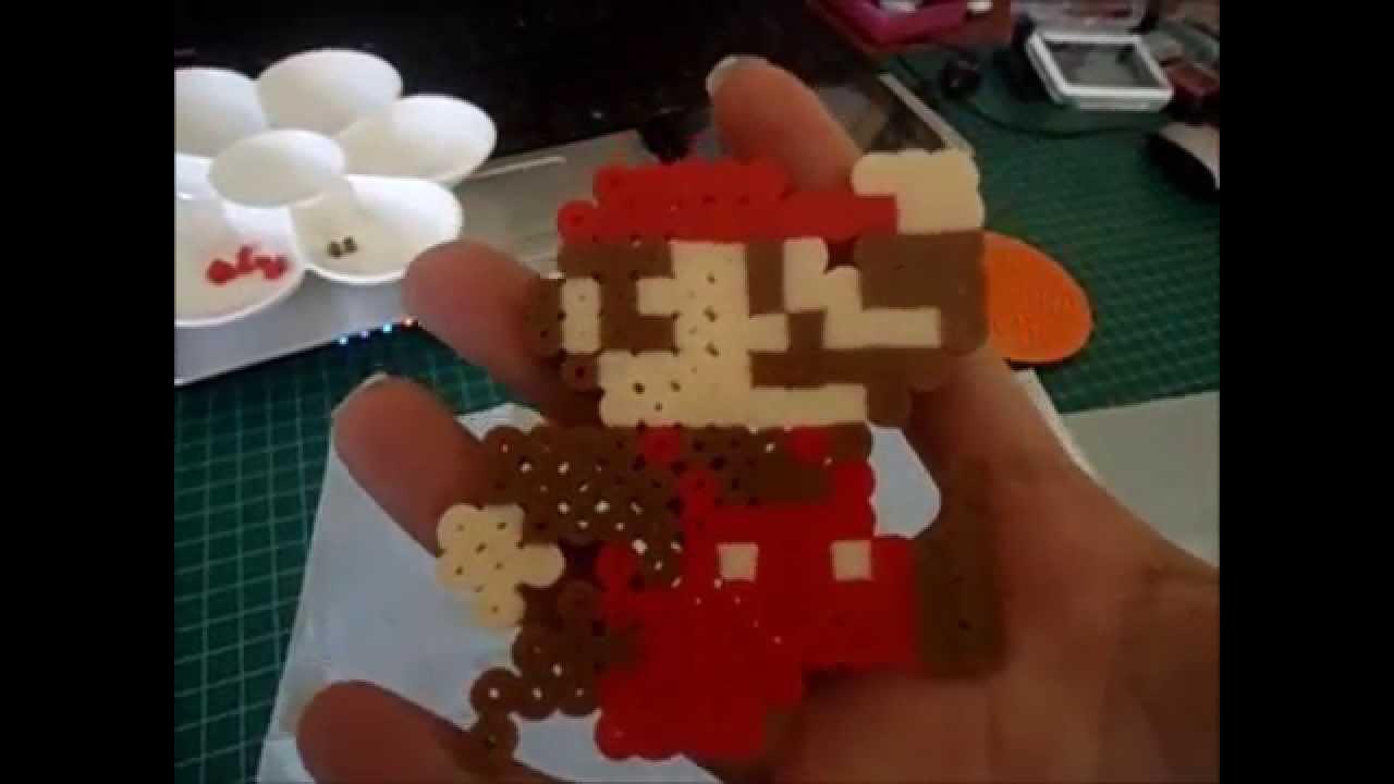 Mario Bross (Pixel) hecho de cuentas (BEADS) (HOW TO)LO QUE NO TE ...