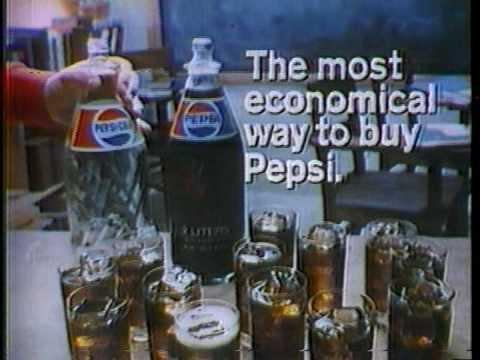 Pepsi glass bottle 1980