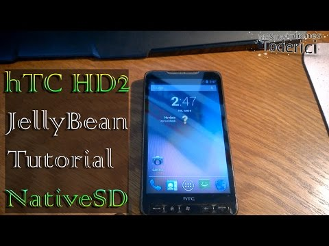 HTC HD2 tutorial installation JellyBean 4.3 NativeSD (Best Rom for HD2)