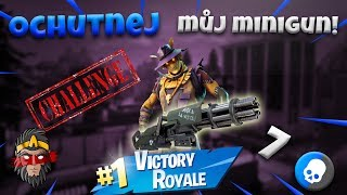 CHALLENGE S NOVÝM SKINEM ( POUZE MINIGUN ) / Fortnite Battle Royale Solo Gameplay / Alkan