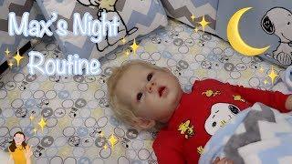 Reborn Toddler Max's Night Routine | Kelli Maple