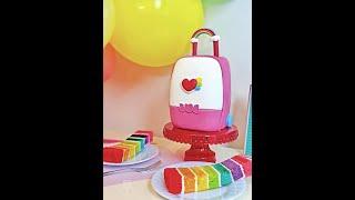 Rainbow Ruby's Rainbow Roller Cake (레인보우 루비, 彩虹宝宝,Cǎihóng bǎ…