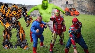 Superheroes VS Transformers Epic Battle