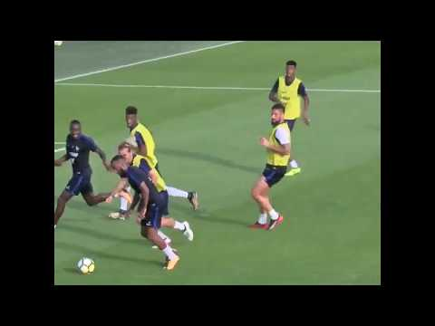 Alexandre Lacazette Nice Left Foot Chip in France NT Training