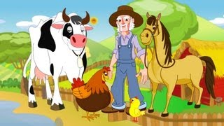 Repeat youtube video Old MacDonald had a Farm Nursery Rhymes and Baby Songs