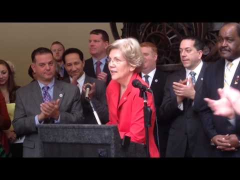 Senator Elizabeth Warren  talks about Student Loan Debt