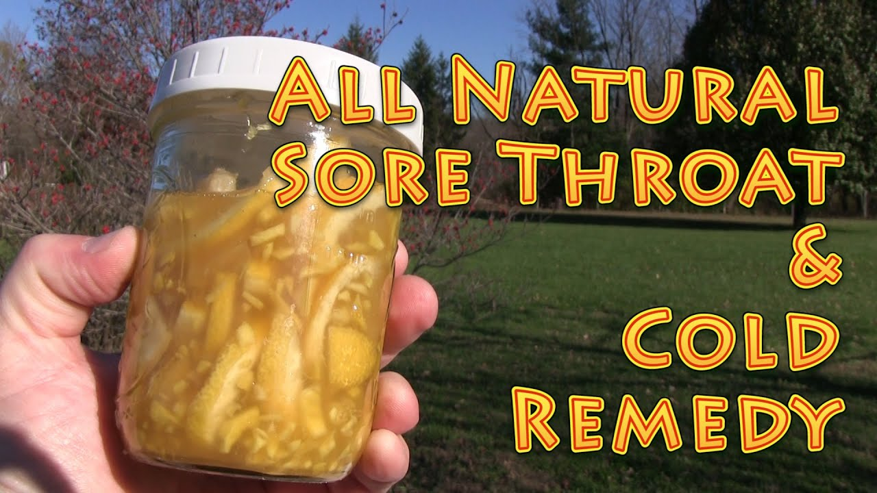 Natural Sore Throat Remedy