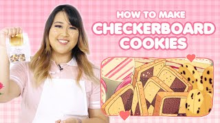 How to make JAPANESE CHECKERBOARD COOKIES for VALENTINES DAY!