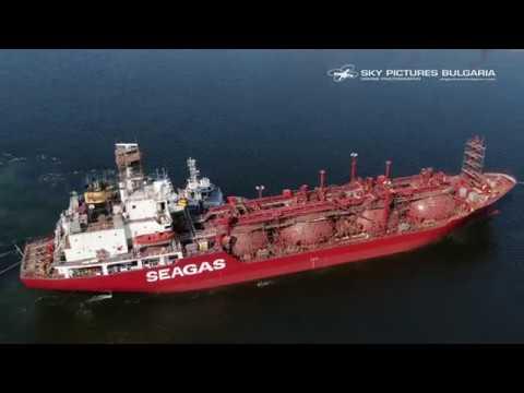 Ship repaid timelapse drone aerial video Bulgaria Заснемане с дрон и таймлпас на кораборемонт