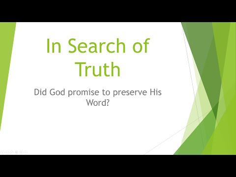 In Search of Truth: Preservation of the New Testament