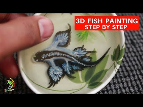 Never Seen Before - 3D Painting Of Fish In Resin - Step By Step Tutorial  | 3dart4you