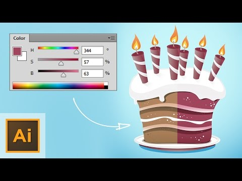 Illustrator Tutorial, Using HSB To Edit And Generate Colors