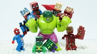 Lego Avengers Brick Building Block Superhero Figures Animation For Kids