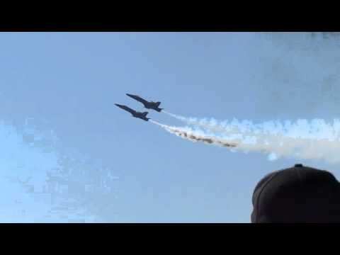 Randolph AFB Air Show -- F18 Two Jet Slow Pass