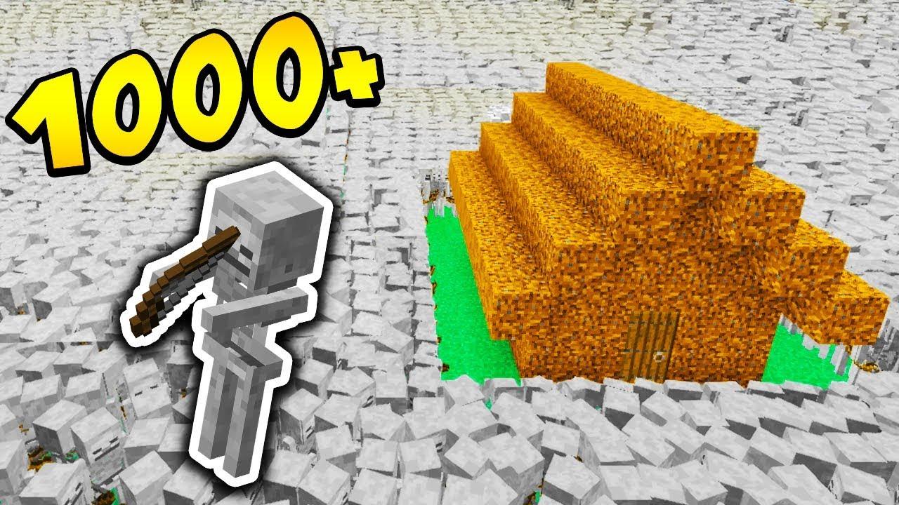 1000 SZKIELETÓW vs DOMEK Z DIRTA!! – MINECRAFT APOKALIPSA #3