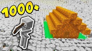 1000 SZKIELETÓW vs DOMEK Z DIRTA!! - MINECRAFT APOKALIPSA #3